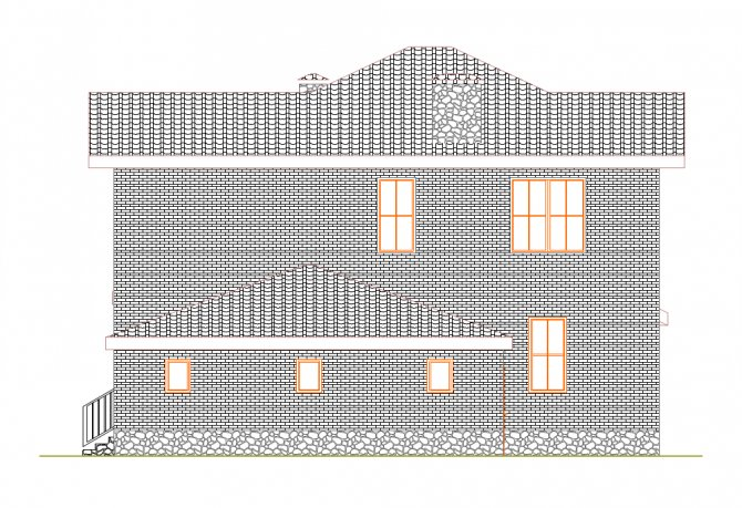 Фасад дома Проект дома из
