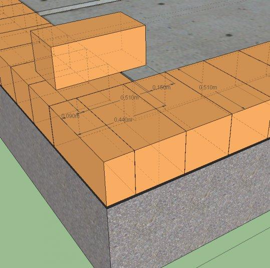 Схема кладки стены из